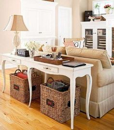 Sofa Table Behind Couch Is A Great Decorating Idea For Living Room
