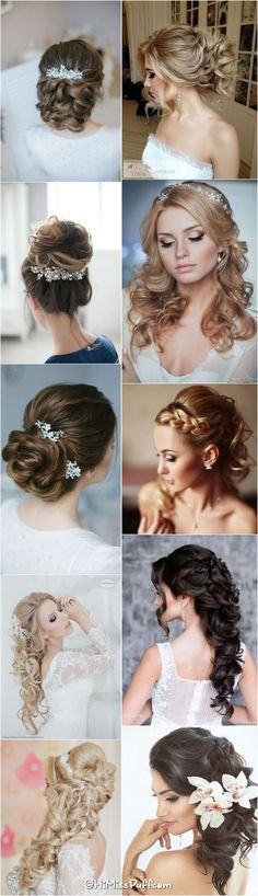 Hairstyles For Quinceanera 200 Bridal Wedding Hairstyles for Long Hair That Will Inspire / www. Curly Wedding Hair, Long Hair Wedding Styles, Bridal Hair Updo, Bridal Hair Vine, Wedding Hairstyles For Long Hair, Wedding Hair Pieces, Diy Hairstyles, Bridal Hairstyles, Quince Hairstyles