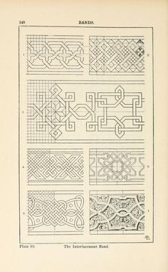 A handbook of ornament Bands page 140 the interlacement band