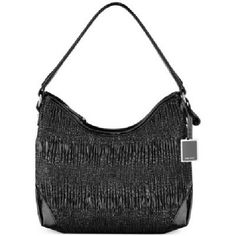 "Nine West Black Ruched Hobo Handbag This medium-sized bag  with ruched detailing has plenty of space to organize your items with an internal middle zip pocket and two slip pockets. Dimensions: 9"" x 9.5"" x 4"". Nine West Bags Hobos"