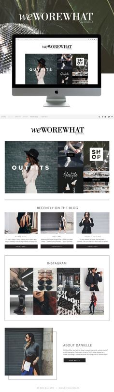 we wore what blog design  - fashion blog design   |   by: http://GOLIVEHQ.CO