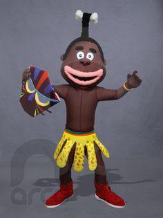 Botarga de Africano Newwition ¡Conoce más botargas de figuras humanas aquí! http://www.grupoarco.com.mx/venta-de-botargas/botargas-de-figuras-humanas-en-mexico/