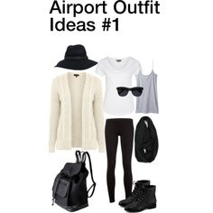 Airport Outfit Idea #1, created by nozomy on Polyvore