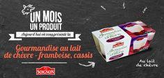 Gourmandise au lait de chèvre, framboise cassis. #yaourt #Soignon #dessert