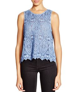 Hoss Intropia Sleeveless Lace Top