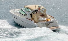 Prestige 36. A luxury and elegant #yacht with a well structured layout. Modern design, interior fine wood and leather furniture.  Web Site: www.amalfisails.com E-Mail: info@amalfisails.it