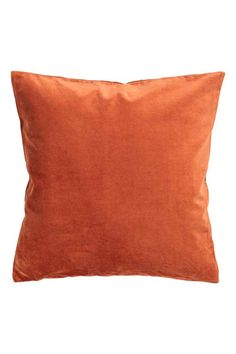 Pudebetræk i velour - Mørk orange - Home All | H&M DK 1