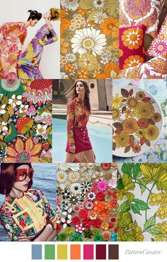 Pattern Curator delivers color, print and pattern trends and inspiration. Floral Fashion, Fashion Colours, Colorful Fashion, Pattern Curator, Mood Colors, Fashion Forecasting, Color Theory, Color Trends, Color Inspiration