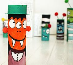 Art Paper Towel Tube Monster Ahhh Paper Towel Roll Crafts Toilet Paper