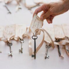 Skeleton keys and silk ribbon.