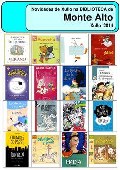 Novos libro xuvenís e para nenos na biblioteca municipal de Monte Alto.