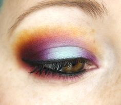 Super colorful eyeshadow - blue, purple, orange