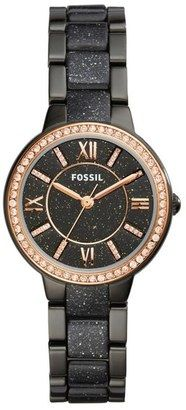 Fossil Virginia Crystal Bracelet Watch 30mm #watches #womens