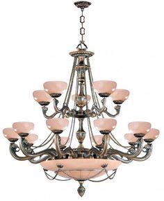 Fifteen Light Bronze Up Chandelier : 20A2Z | Bright Light Design Center