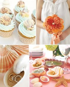 If you found a seashell mold, you could do cupcakes with seashell chocolates on top!