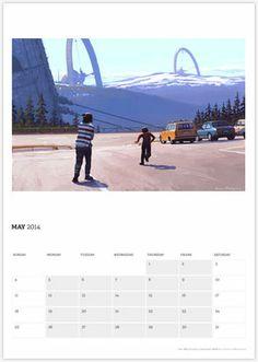 The Riksenergi Calendar by Simon Stålenhag :: For Pete