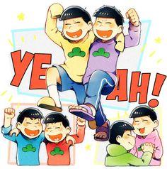 totty back off of choroo. oh ichimatsu look so happy! All Anime, Me Me Me Anime, Anime Guys, Its Ya Boy, Gakuen Babysitters, Gekkan Shoujo Nozaki Kun, Comedy Anime, Skullgirls, Ichimatsu