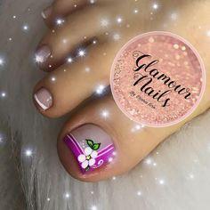 New Nail Art, Easy Nail Art, Pedicure Tradicional, Pretty Pedicures, Glamour Nails, Toe Nail Designs, Mani Pedi, Toe Nails, Acrylic Nails