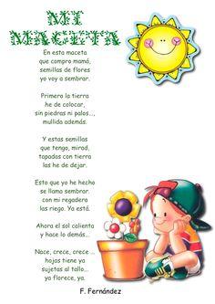 poemas_infantiles25 Spanish Songs, How To Speak Spanish, Bilingual Education, Kids Education, Super Reader, Nature Poem, Poetry For Kids, Spanish Teaching Resources, Teaching Poetry