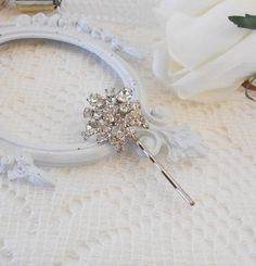 Crystal Bobby Pin, Crystal Headpiece, Wedding Hairpin, Rhinestone Bobby Pin, Jeweled Hair Pin, Hair Stick Pin, Hair Jewlery, OOAK, For The Bride, Wedding Hair, lisamariespiece