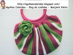 Agulhas Coloridas Croche e Trico: Bolsas