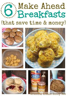 These make ahead breakfasts are healthy, delicious and perfect for busy mornings!