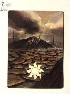 Plains - Full Art Land - MTG Alter - Revelen's Light Altered Art Magic Card…