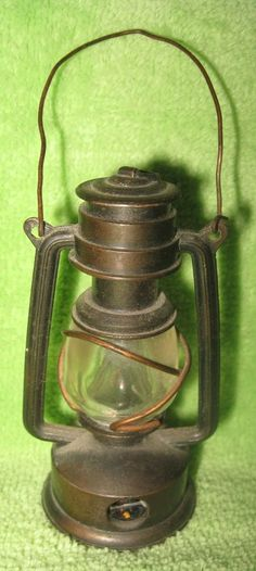 Brass Miniature Lantern Pencil Sharpener Kerosene Lamp Railroad Vintage