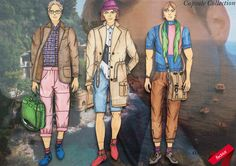 Menswear Capsule Collection design illustrations for a collaboration proposal with an established brand year Design Illustrations, Conceptual Design, Elements Of Design, Fashion Flats, Apparel Design, Storyboard, Proposal, Collaboration, Menswear