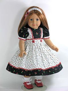 American Girl Handmade 18 inch Doll Clothes - Cherry, Tulip - Exclusively Linda Doll Clothes