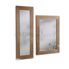 Monica Natural Oak Framed Handmade Wall Mirrors - http://www.mirrormania.co.uk/mirrors/classic/monica-natural-oak-framed-wall-mirror.html