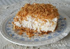 Pineapple dream dessert is one of those perfect potluck desserts. Cream cheese, pineapple, whipped cream and graham crackers, yum! Potluck Desserts, No Bake Desserts, Dessert Recipes, Pineapple Dream Dessert Recipe, Pineapple Desserts, Pineapple Kitchen, Cool Whip Desserts, Easy Desserts, Delicious Desserts