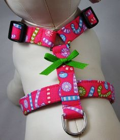 Dog Harness  - Cotton Candy Christmas - by Gatorgrrl Boutique