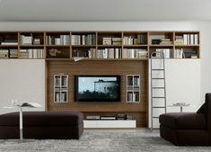 Wohnzimmer modern einrichten graue m bel holz dekorationen for Wohnzimmermobel mit viel stauraum