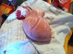 Heart Shaped soap with home grown lavender.
