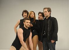 On the set of Beyonce's Single Ladies video shoot as imagined by Paul Rudd!
