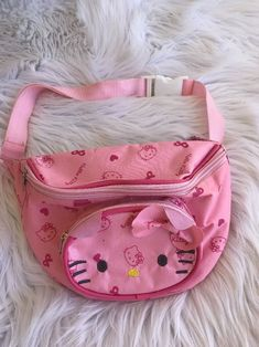 c2be4f8389ba Rare Vintage Hello Kitty Fanny Pack Bag Waist Pack Pink Excellent  hello   kitty