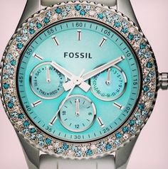 Tiffany-Blue Fossil Watch, I need this :)