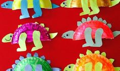 These dinosaur craft idea projects are for preschool, kindergarten children. The crafts use materials found around the house, like egg cartons, cardboard, paper, boxes, string, crayons, paint, glue, etc.