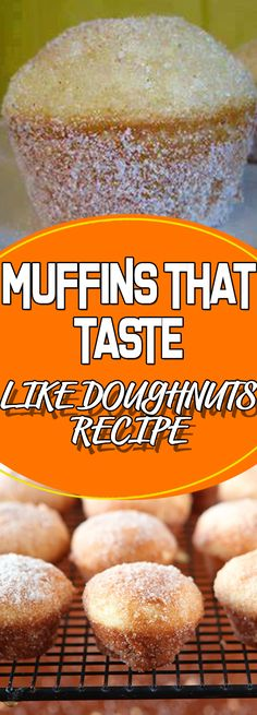 MUFFINS THAT TASTE LIKE DOUGHNUTS RECIPE #dessertrecipes #easyrecipes #appetizer #desserttable #dessert #recipeoftheday