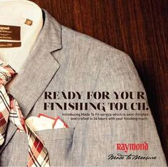 """MADE TO FIT launched in Raymond's """"#MadeToMeasure"""" exclusive showrooms..#ForumCourtyard"""