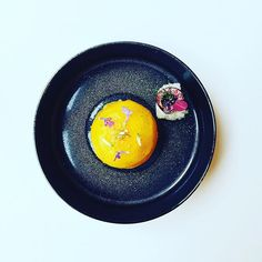 poached peach in coconut water, lemongrass, verbena and muscovado, served with grapefruit gel. 