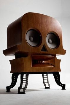 High end audio audiophile Skull speaker