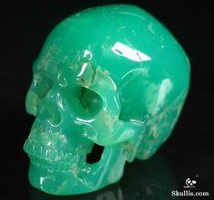 Chrysoprase Crystal Skull Sculpture