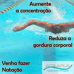 #AcquariusFitness A natação é considerada o exercício mais completo, pois trabalha todos os músculos do corpo humano, tonificando-os e, consequentemente, protegendo, com maior eficácia, tendões e ligamentos, além de potencializar a flexibilidade. ?#PratiqueNatação #VenhaparaAcquariusFitness #PratiqueSaude