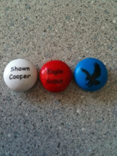 Personalize Eagle Scout M & M's. Go to the website: http://www.mymms.com/