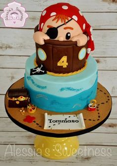 The Ginger Pirate Cake - pirate-themed party for the boys
