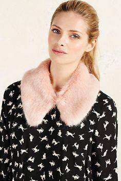 Faux Fur Collar #anthropologie