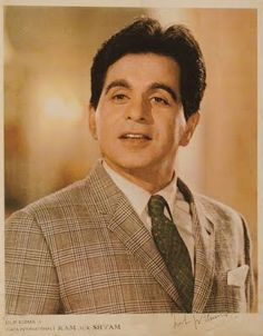 Une photo autographe de Dilip Kumar