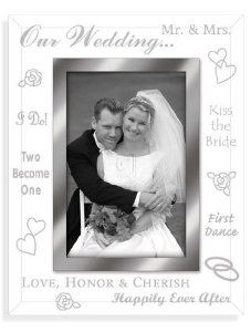 Malden International Designs Our Wedding Mirrored Glass With Mirrored Inner Border Picture Frame, Silver * Click image for more details. (This is an affiliate link and I receive a commission for the sales)